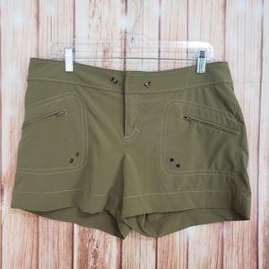 Athleta Green Comfort Shorts Active Wear Stretch 8